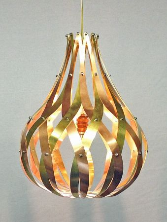 fig light. brass and copper