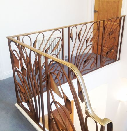 art deco lily stairs detail