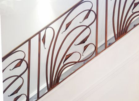 art deco lily stairs detail 2