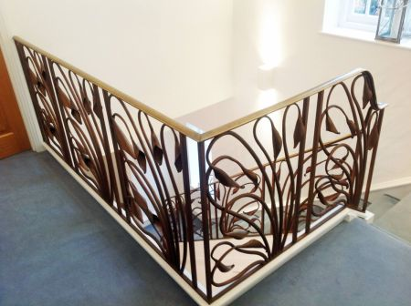 art deco lily stairs detail 3