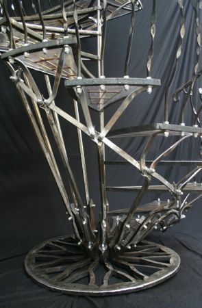 resin staircase base with fanning