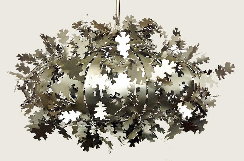 Oak Leaf Pendant Light Jaz Asbury Unique Metal Lighting