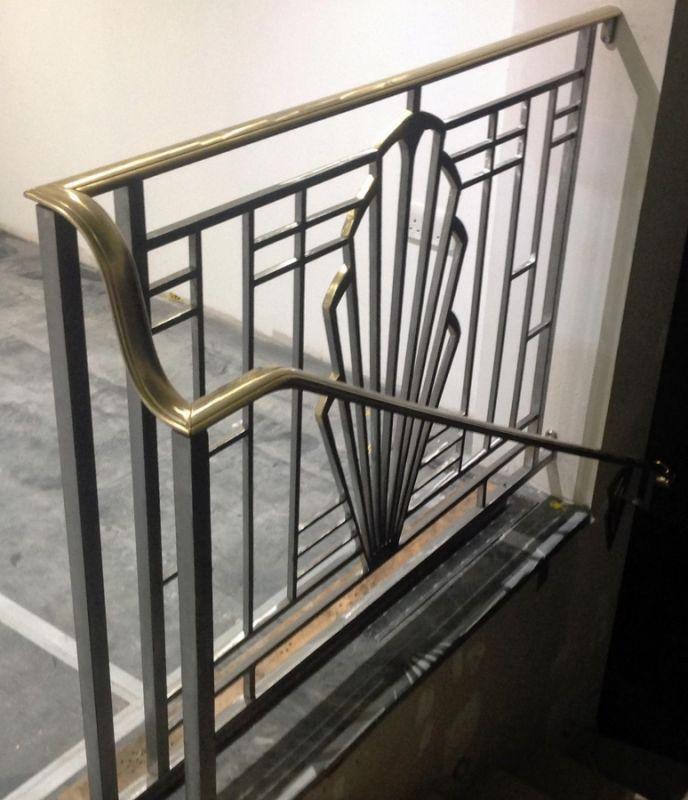 Art Deco Railing: Jaz Asbury. Unique Metal Lighting, Furniture