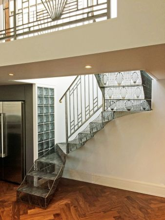 art deco perforated stairs