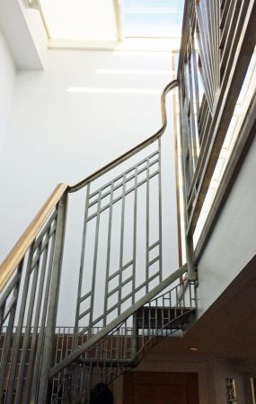 art deco perforated stairs 4
