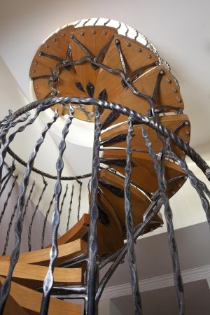 spiral staircase with cedar treads copy